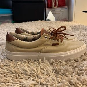 Tan and leather Vans